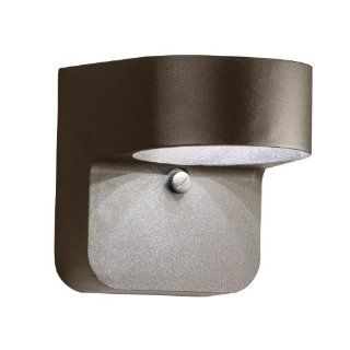 Kichler Lighting 11077AZT Energy Efficient 1 Light LED Outdoor Wall Mount Fixture, Textured Architectural Bronze Finish   Wall Porch Lights