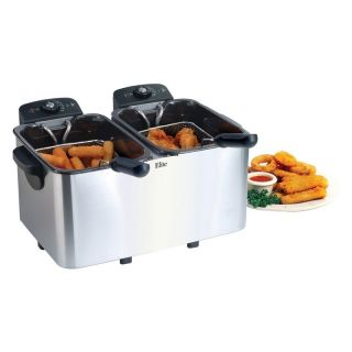 Maxi Matic Elite Platinum 6 qt. Stainless Steel Liter Dual Deep Fryer   Deep Fryers
