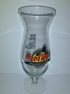 Hard Rock Cafe Singapore Hurricane Glass Vase Kitchen & Dining