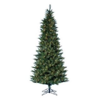 9 ft. Designer Series Classic Green Pre lit Christmas Tree with Metal Base   Christmas Trees