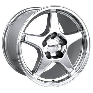 "Detroit 841 ZR1 Corvette Chrome Replica Wheel (17x11""/5x120.65mm) Automotive"