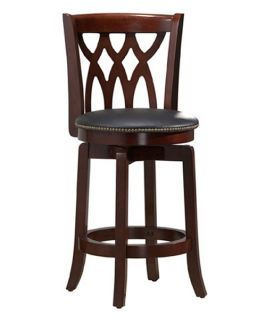 Boraam Cathedral 24 in. Swivel Counter Stool   Dark Cherry   Bar Stools