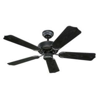 Monte Carlo 5WF42BK Weatherford II 42 in. Indoor / Outdoor Ceiling Fan   Matte Black   Ceiling Fans