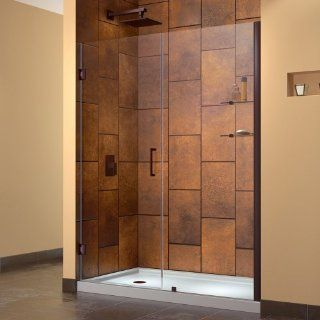 DreamLine SHDR 20597210S 06 Unidoor Frameless Hinged Shower Door, 59 to 60 Inch, Oil Rubbed Bronze Finish