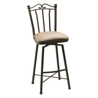 Pastel 26 in. Laguna Swivel Counter Stool   Bronze   Bar Stools