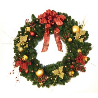 3 ft. Home for the Holidays Pre lit LED Wreath   Christmas Wreaths