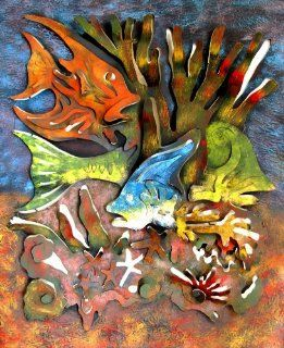 Tropical Fish Under the Sea Wall Art   Wall Sculptures