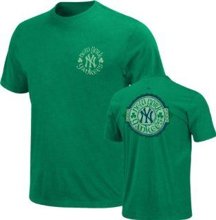 Majestic New York Yankees Kelly Green Tried and True T shirt (XX Large) Clothing