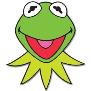 "KERMIT Muppets Jim Henson car bumper sticker 4"" x 5"" Automotive"