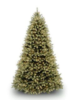 "National Tree 7 1/2' ""Feel Real"" Downswept Douglas Fir Tree, Hinged, 750 Low Voltage Dual Color LED Lights with On/Off Switch (PEDD1 312LD 75X)   Christmas Trees"