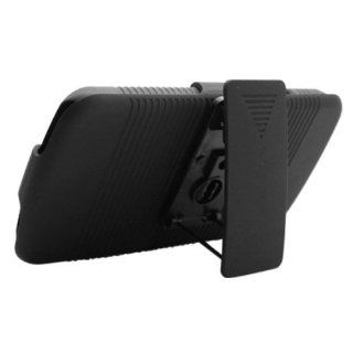 Aimo Wireless LGE960PCBEC001 Shell Holster Combo Protective Case for LG Nexus 4 E960 with Kickstand Belt Clip and Holster   Retail Packaging   Black Cell Phones & Accessories