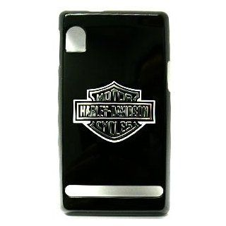 Motorola Droid A855 Harley Davidson Logo on Black Hard Case/Cover/Faceplate/Snap On/Housing/Protector Cell Phones & Accessories