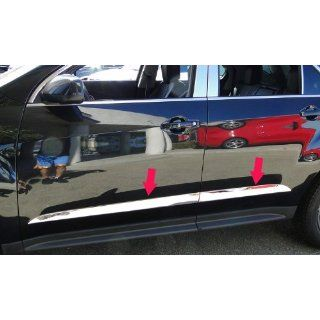 "2010 2013 Chevy Equinox Rocker Panel Chrome Stainless Steel Body Side Moulding Molding Trim Cover Trim 2"" Wide 4PC Automotive"