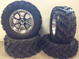 "ITP SS108 14"" Wheels Machined 26"" Reptile Tires Honda Foreman Rancher SRA Automotive"