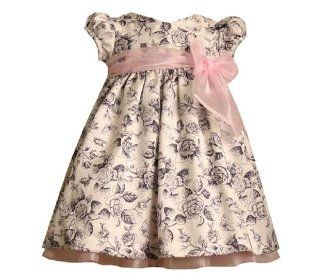Bonnie Jean   Bonnie Baby Infant Girls 12M 24M IVORY BLACK TOILE PRINT SHANTUNG Special Occasion Wedding Flower Girl Easter Birthday Party Dress 18M  Infant And Toddler Dresses  Baby