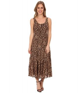 Jessica Howard Sleeveless Scoop Neck Multi Tier Dress Womens Dress (Brown)