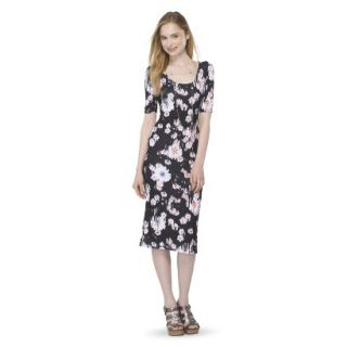 Mossimo Supply Co. Juniors Printed Midi Dress   Broken Floral M(7 9)