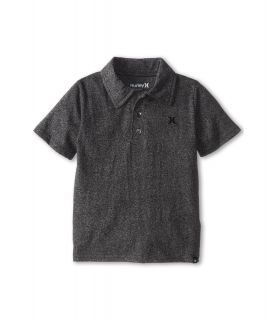 Hurley Kids Dialed Triblend Polo Boys Short Sleeve Pullover (Black)