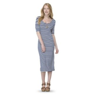 Mossimo Supply Co. Juniors Printed Midi Dress   Nightfall Blue XS(1)