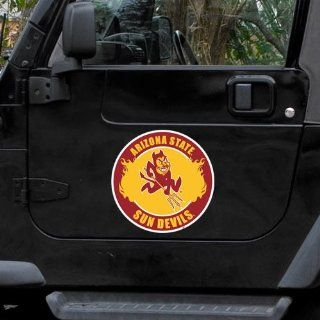 NCAA Arizona State Sun Devils 12'' Team Logo Car Magnet  Sports Related Tailgater Mats  Sports & Outdoors