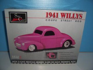 #94000 Spec Cast 1941 Willys Coupe Street Rod 1/25 Diecast Metal Model Kit,Needs Assembly Toys & Games