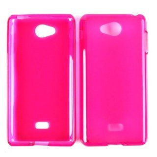 LG SPIRIT MS 870 TRANS HOT PINK TPU 028 SKIN CASE RUBBER ACCESSORY Cell Phones & Accessories