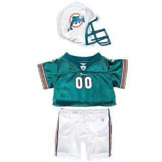 Build a Bear Workshop, Miami Dolphins Uniform 3 pc. Teddy Bear Outfit Toys & Games