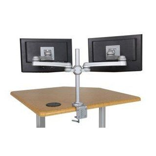 Sunway LCD Flat Panel Computer Monitor Arm Mount w/ 2 Dual Arm Connection & Grommet Mount (FPA875VG)  Computer Monitor Stands