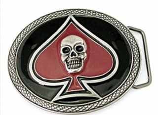 Skull Skeleton Spade Bikers Pirate Men Women Oval Finishing Belt Buckle.  Other Products