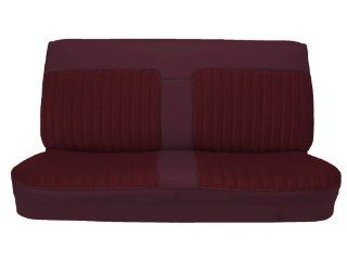 Acme U101 899L Front Maroon Vinyl Bench Seat Upholstery with Burgundy Velour Inserts Automotive