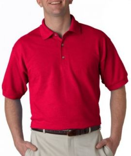 Gildan Men's Ultra Cotton Pique Polo 3800 Cherry Red M at  Men�s Clothing store