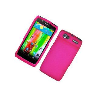 Motorola Electrify 2 XT881 Hot Pink Hard Cover Case Cell Phones & Accessories