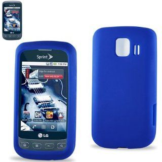 Premium Blue Silicone Soft Rubber Skin Cover Case For LG OPTIMUS S/U/V BLUE (INCLUDES SCREEN PROTECTOR) Cell Phones & Accessories
