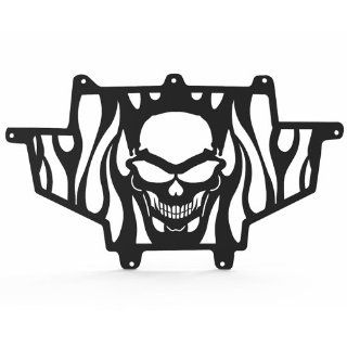 Ferreus Industries   Polaris RZR XP900 Skull Flame Black Powdercoated Radiator Grille   GRL 122 09black Automotive