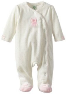 Little Me Baby Girls Newborn Ballet Dot Velour Footie Clothing