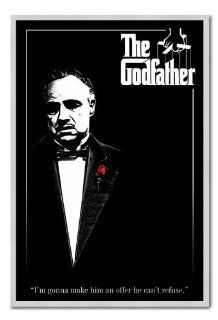 Iposters The Godfather Poster Silver Framed & Satin Matt Laminated   96.5 X 66 Cms (approx 38 X 26 Inches)   Prints