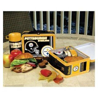 Pittsburgh Steelers NFL Tin Lunch Box With Thermos  Sports Fan Lunchboxes  Sports & Outdoors