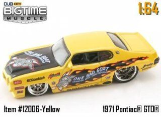 "Jada Dub City Big Time Muscle Yellow ""One Bad Goat"" 1971 Pontiac GTO 164 Scale Die Cast Car Toys & Games"