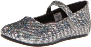Natural Steps Pizazz Mary Jane (Infant/Toddler/Little Kid), Silver Glitter, 2 M US Infant Mary Jane Flats Shoes
