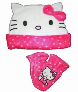 Hello Kitty Toddler Girls Hat & Mitten Set Clothing