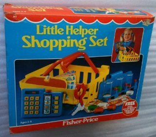 FISHER PRICE #917 Pretend Play LITTLE HELPER SHOPPING SET Complete (Dated 1984) Toys & Games