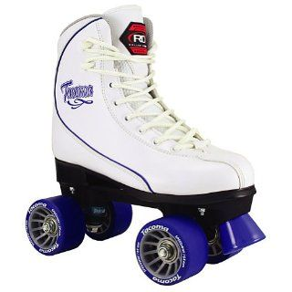 Roller Derby 2012/13 Women's Tacoma Quad Roller Skates   White/Blue   U954 (7)  Sports & Outdoors