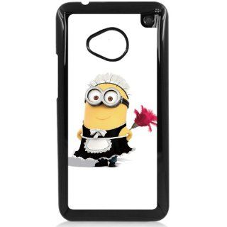 Despicable Me Minions maid HTC One M7 Hard Plastic Black or White case (Black) Cell Phones & Accessories