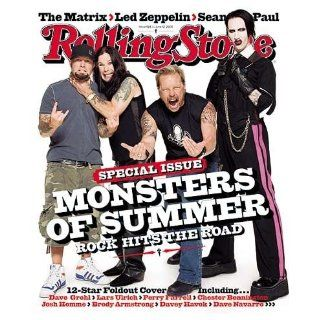 Fred Durst, Ozzy Osborne, James Hetfield, Marilyn Manson   Monsters of Summer (June 12, 2003   Issue #924 Rolling Stone Magazine) Rolling Stone Magazine Books