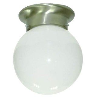 Yosemite Home Decor 77 947SN Leslie 1 Light 5 Inch Ceiling Flush Mount, Satin Nickel Frame   Close To Ceiling Light Fixtures