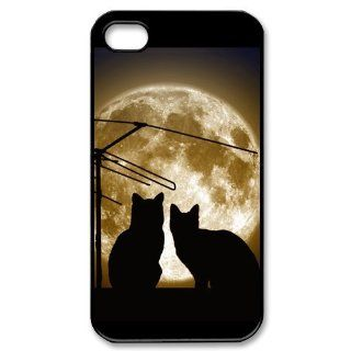 Custom Because Cats Cover Case for iPhone 4 4s LS4 931 Cell Phones & Accessories