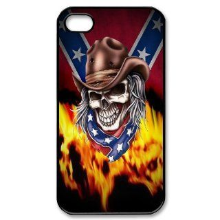Confederate Rebel Flag Slim and Stylish Protective Iphone 4/4s Case, Perfect fit Snap On Hard Cover Cell Phones & Accessories
