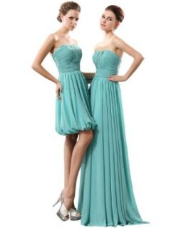 �sold� A Line Strapless Pleats Knee Length Bridesmaids / Junior Bridesmaids Dresses
