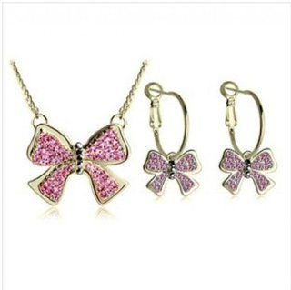 WIIPU New style Christmas gift crystal set necklace earring set fashion set��wp s939 7) Jewelry