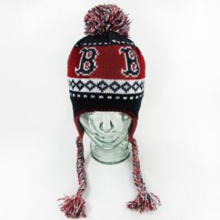 MLB Boston Red Sox Abomination Knit, Navy, One Size  Sports Fan Knit Caps  Clothing